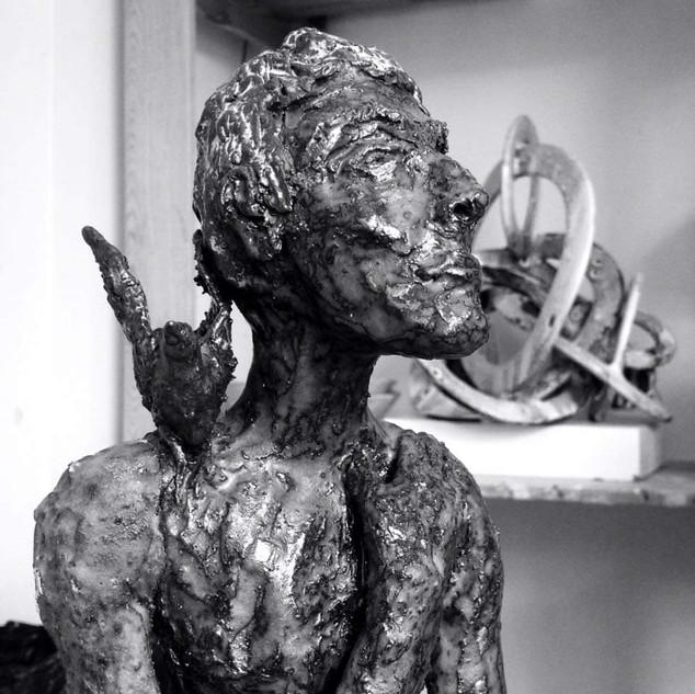 Portrait à l'oiseau d'Egon Schiele