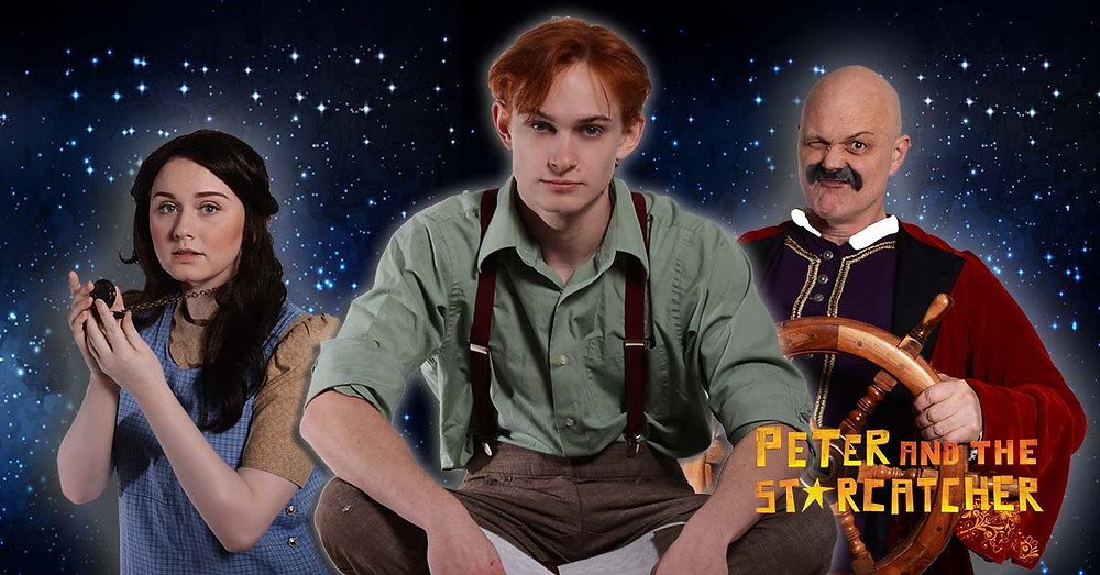 Pictured from left to right: Morgan Montgomery (Molly), Chad Dyer (Boy/Peter), Chris Gibson (Blackstache) Photo Credit: Casablanca Productions