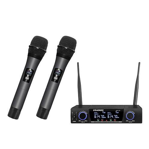 Aokeo V2 UHF Wireless Handheld Microphone System