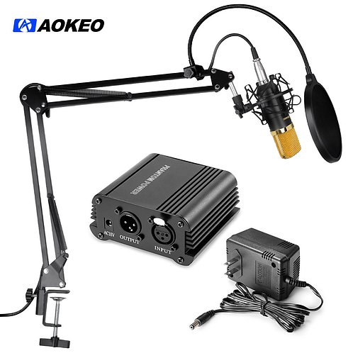 Aokeo AK-70 & AK-35, 48V Phantom Power Supply with Adapter Kit