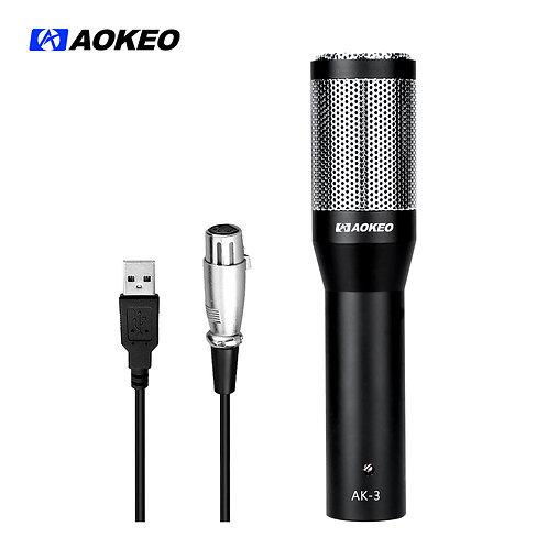 Aokeo AK-3 USB Microphone Plug & Play Home Studio USB Condenser Microphone