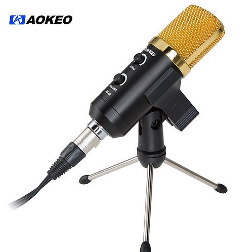Aokeo AK-30 Professional USB Condenser Microphone with Butterfly Clip Holder Kit