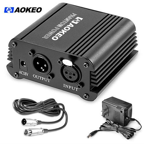 Aokeo 48V Phantom Power Supply with Adapter