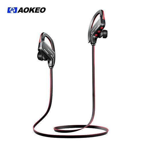 Aokeo Bluetooth Headphones, Wireless Sports In Ear Headphones Water Resistant HD