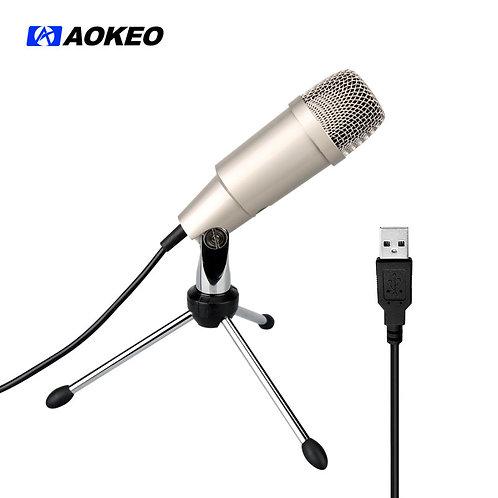 Aokeo AK-2 USB Microphone, Plug & Play Home Studio USB Condenser Microphone