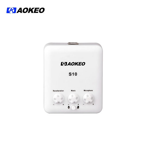 Aokeo S-10 External USB Sound Card with Free Drive Design for Singing, Recording