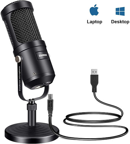 Aokeo Condenser Podcast Microphone for Computer