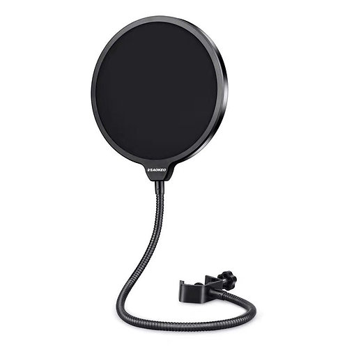 Aokeo Professional Microphone Pop Filter Mask Shield, Dual Layered