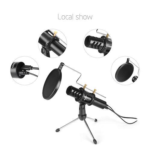 Aokeo V8 USB Computer Professional Condenser Studio Microphone Plug & Play
