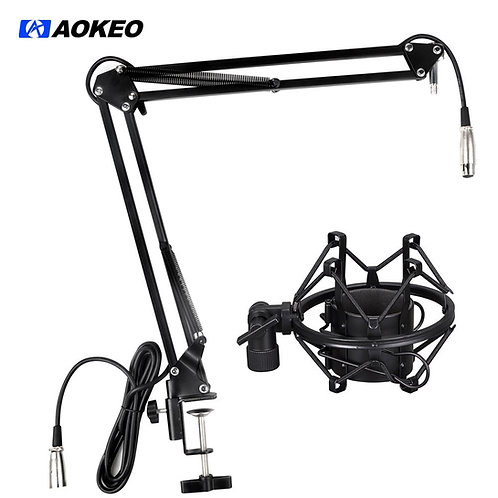 Aokeo Black AK-35 Metal Suspension Boom Arm Stand