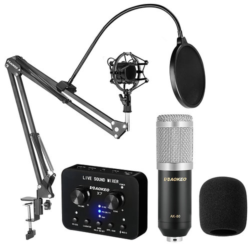 Aokeo AK-80 Professional Studio Live Stream Broadcasting Recording Condenser Mic