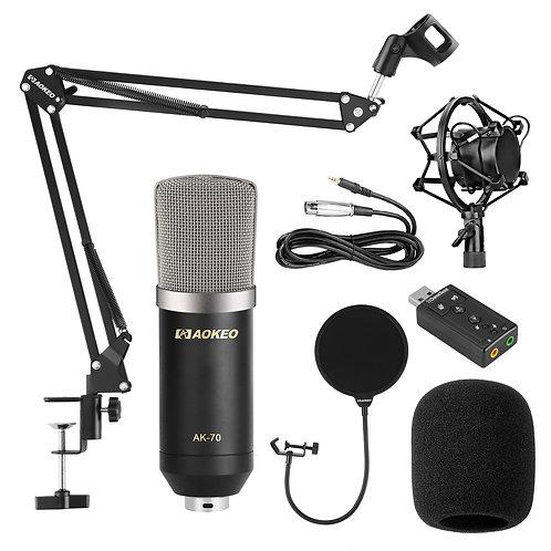 Aokeo AK-70 Professional Studio Live Stream Broadcasting Recording Condenser Mic