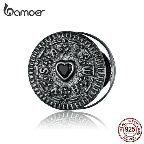 bamoer 925 Sterling Silver Sandwich Biscuit Charm for Original Bracelet & Bangle