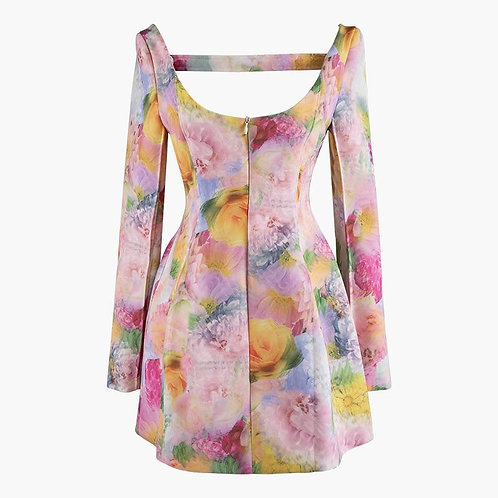 DEAT 2020 New Summer Fashion Tide Casual Long Sleeve Loose Hollow Out Print Sexy