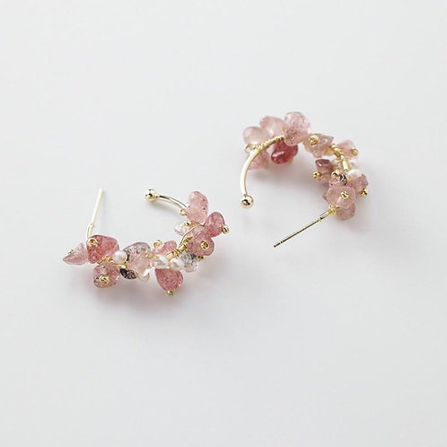 2020 New Arrival Trendy Hand Made Color Irregular Stones Dangle Earrings For Wom