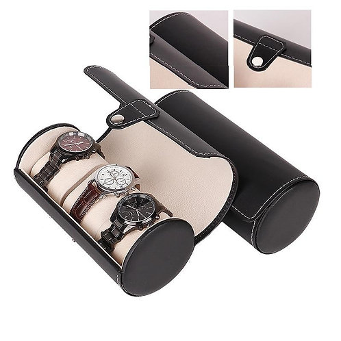Creative Luxury Watch Box Display Gift Case 3 Slots Wristwatch Necklace Bracelet