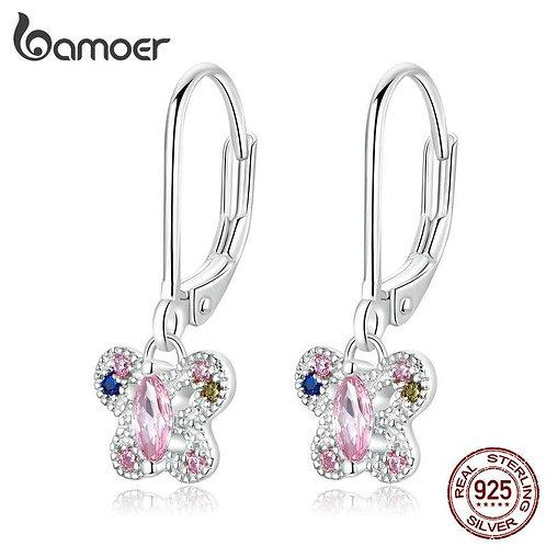 bamoer Authentic 925 Sterling Silver Blue Dream Earrings for Women Korean Style