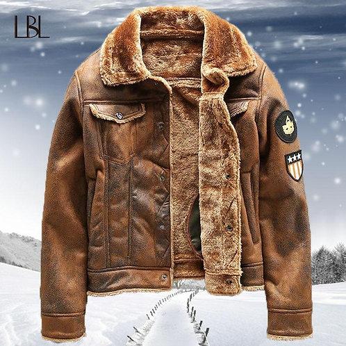 Warm Bomber Jackets Men Winter Fleece Tactical Outwear Coats Male Thicken Pilot