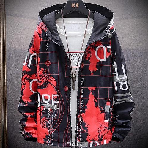 2020 Autumn Fashion Printed Mens Casual Hooded Jacket And Coats Streetwear Windb