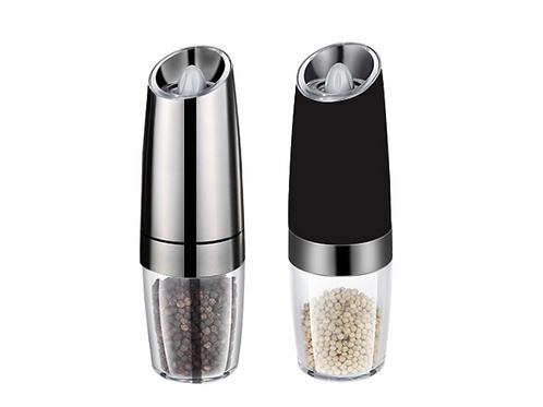 Homgeek Salt Pepper Mills Portable Automatic Electric Gravity Pepper Grinder Ele