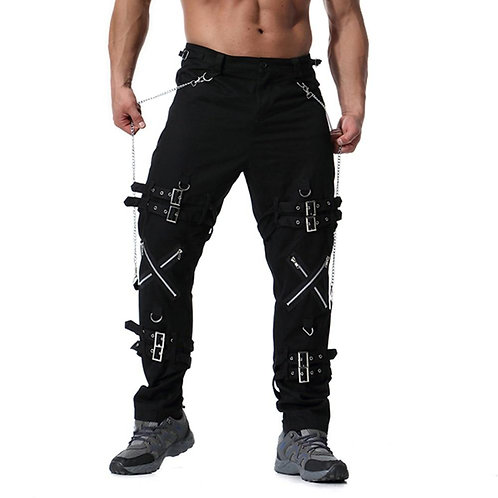 2020 New Arrivals Men fashion hip hop joggers punk rock cargo pants zippers stre