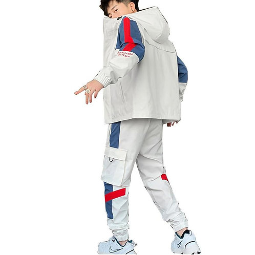 2020 Hip Hop Workwear jacket Mens Tracksuit Jacket+Pants 2PC Sets Men Hoodie Swe