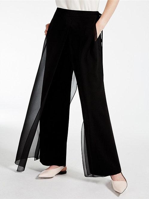 AEL 2018 New Fashion Women's Summer Chiffon Wide Leg Pants Casual Femme Trousers