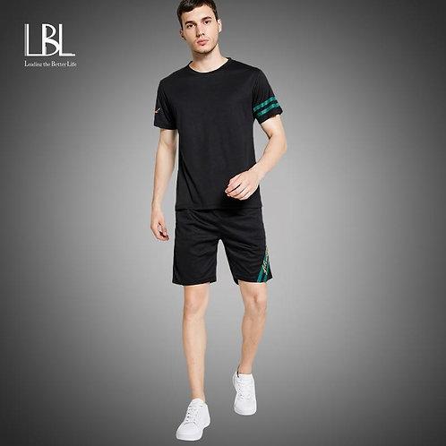 Casual Men's Streetwear Sets 2pcs TShirts+Shorts Men Summer Brand Two Piece Trac