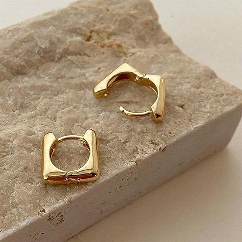 2020 New Korean Trendy Geometric Metal Women Stud Earrings For women Girl Temper