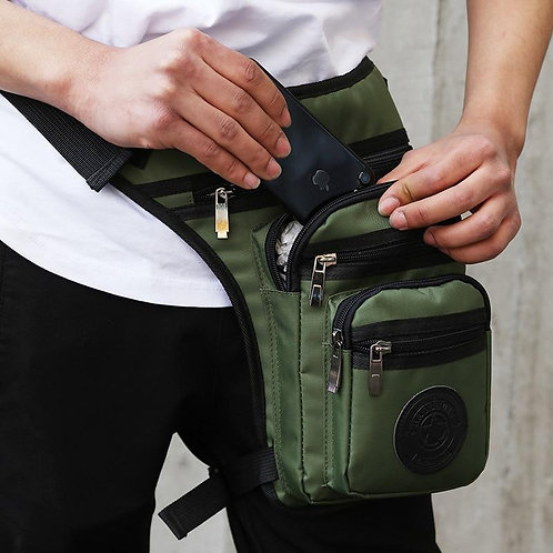 Men Nylon Drop Legs Bags Fashion Hip Waist Pack Thigh Bum Fanny Packs Multifunct