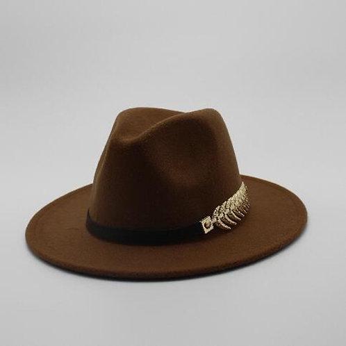 Special Felt Hat Men Fedora Hats With Belt Women Vintage Trilby Caps