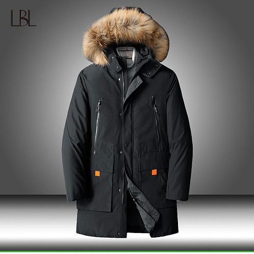 90% Down Jackets Men Winter Jacket Mens Fashion Thick Warm Parkas Fur White Duck