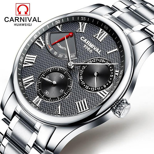 Relojes Hombre CARNIVAL Luxury Brand Mens Automatic mechanical Watches Men Casua