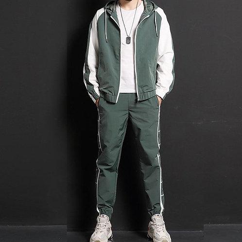 2020 New Men Casual Sets Zipper Patchwork Tracksuits Mens Hip Hop Streetwear Sui