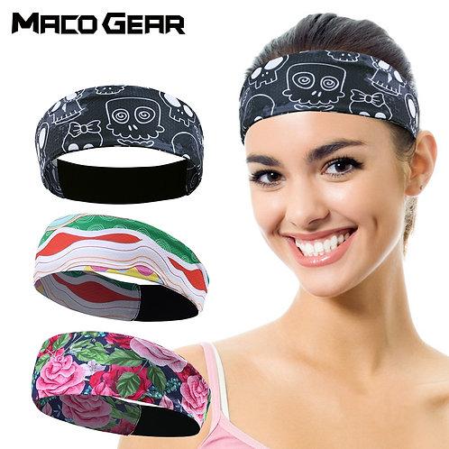 Outdoor Sport Headband Lightweight Yoga Fitness Running Jogging Sweat Band  M &W