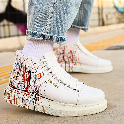 CH263 Sneakers Men Sneakers Casual Comfortable Flexible Fashion Leather Wedding