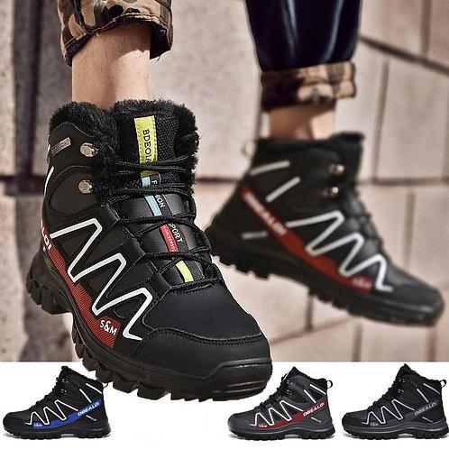 Men Outdoor Climbing Shoes Add Fluff Sports Snow Boots Keep Warm Desert Boots Co