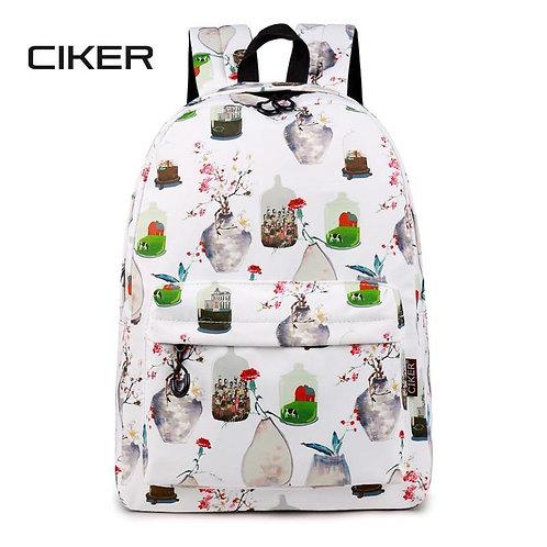 CIKER Chinese Style Printing Backpack Women Floral Bookbags Waterproof Backpack