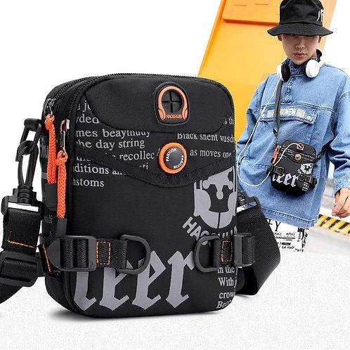 Men's bags Men Shoulder Bags Waterproof Casual crossbody bag Black bag Canvas Me
