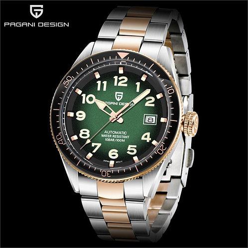 PAGANI DESIGN Mechanical Watches Men Automatic Green Waterproof Luxury Business