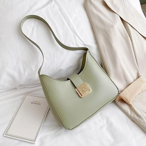 Fashion Creative Solid Shoulder Bag Classic Texture Delicate Design PU Leather W