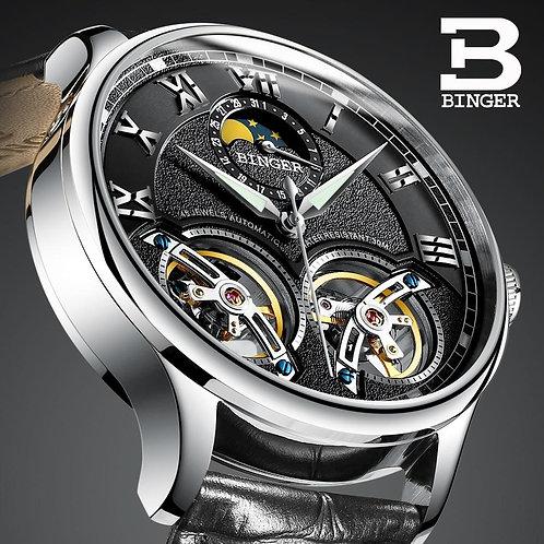 Double Tourbillon Switzerland Watches BINGER Original Men's Automatic Watch Self