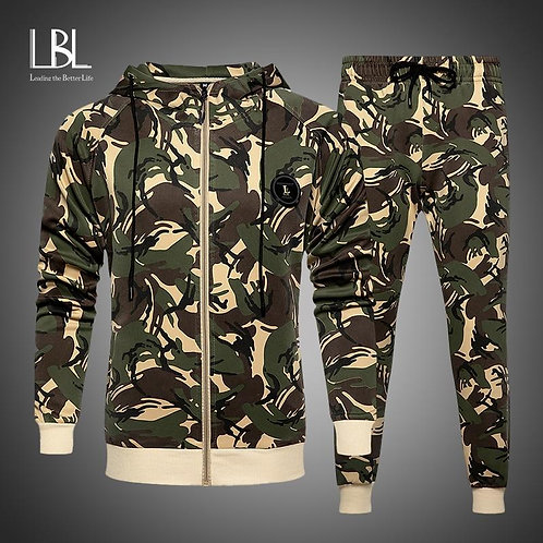 2020 Sport Suit Men Camouflage Sports Suits Loose Tracksuits Mens Spring Autumn