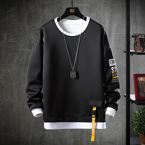 2021 Solid Color Sweatshirt Men Hoodies Autumn Hoody Casual Streetwear Clothes