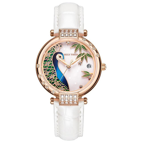 2020 Reef Tiger/RT Top Brand Luxury Gold Rose Women Fashion Casual Automatic Wat