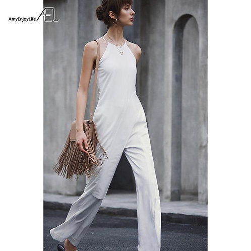 AEL High Waisted Woman Wide Leg Pants White Fashion slim Women Trousers Casual F