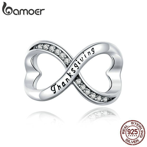 bamoer Metal Beads for Women silver Jewelry Making Original 925 Sterling Silver