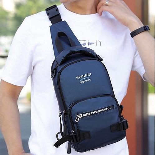 CIKER Men's USB Charging Chest Bag Nylon Small Bag Multifunction Shoulder Messen