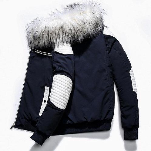2020 New Men Winter Jackets Thicken Warm Fur Hooded Parkas Homme Zipper Casual O