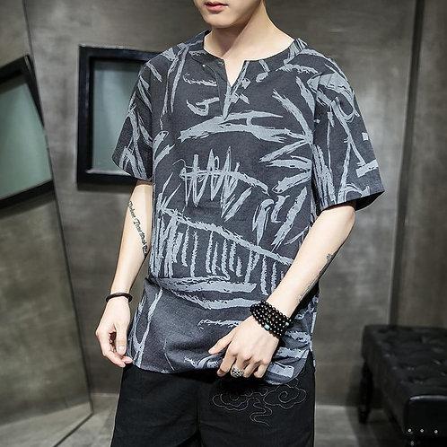 Harajuku Men Tshirts 2020 Summer Casual Streetwear Print Men T-shirts Chinese St